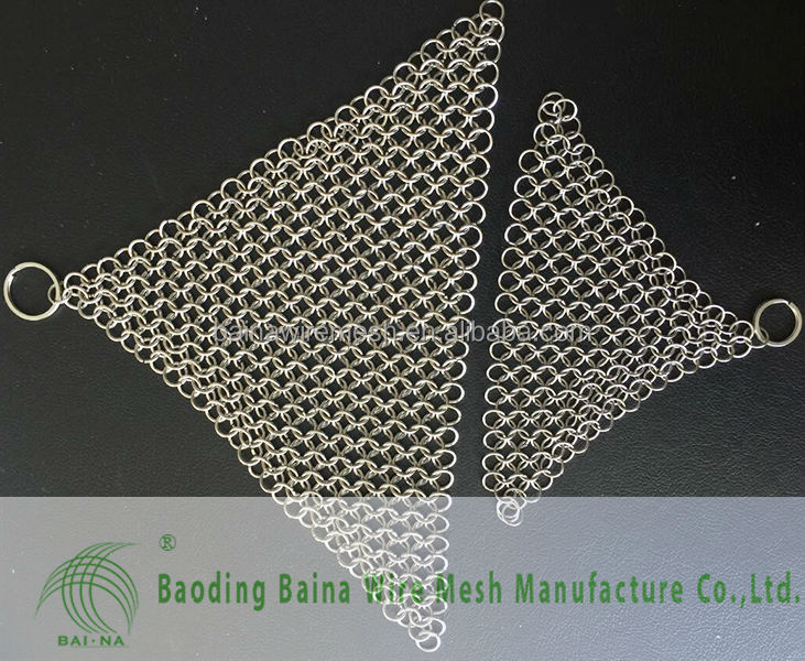 Stainless Steel Chainmail Scrubber 7 inch Round