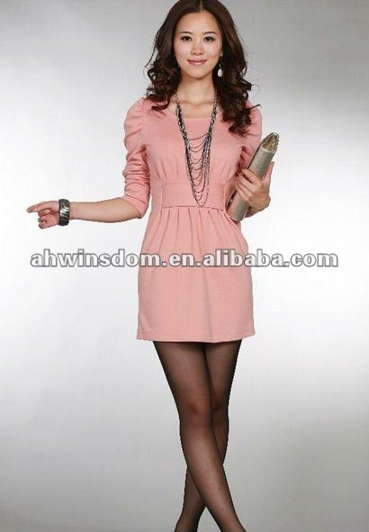 Korean style cheap knitted dress