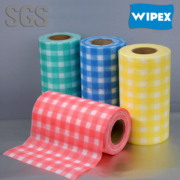 Hangzhou free sampes spunlace multi-purpose cleaning kitchen jumbo rolls made in China