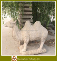 Garden stone animal figure life size decorative camel statue