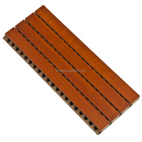 wooden groove sound insulation interior wall decoration materials for acoustic engineering