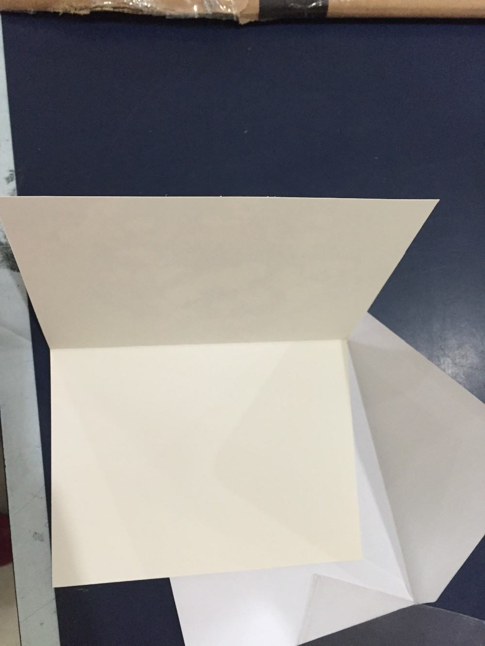 Greeting cards with white card white envelope, packaged with opp bags