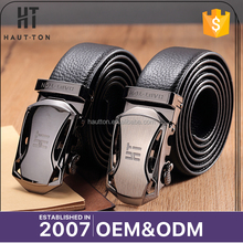 Latest Design Fashion Alloy Automatic Buckle Belts Top Selling Professiona Business Top Grain Leather Belts