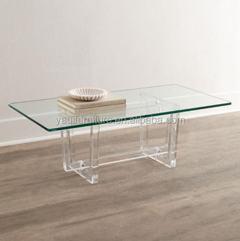 2017 Modern Living room furniture clear acrylic coffee table