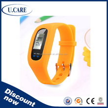 Hot sales promotion cheap price silicone wristband pedometer, bracelet pedometer, cheap pedometer watch