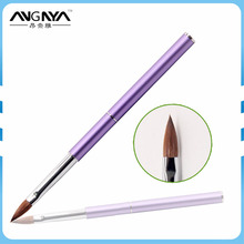 2016 New Arrival Violet Color Mental Handle Kolinsky Germany Acrylic Nail Brush