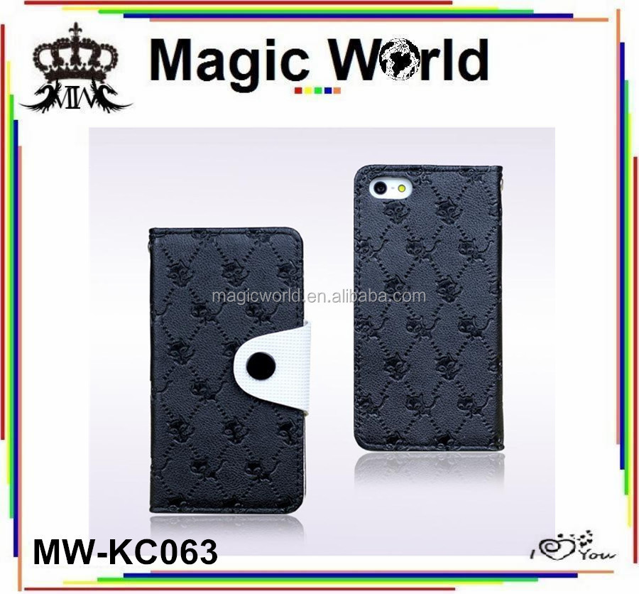 Wholesale Magnet Leather Cell Phone Case For iPhone 5 5S