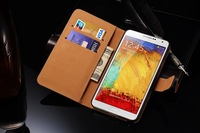 Cell phone accessory wholesaler of universal smart mobile phone leather case for samsung galaxy note 3
