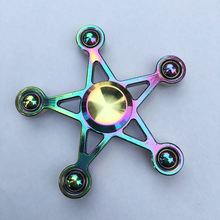 Colorful Five-pointed Star Fidget Spinner Metal EDC Hand Finger Spinner for Autism and ADHD Focus Anxiety Relief Stress Toy Gift