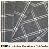 PARISS woven 65 polyester 33 rayon 2 spandex men's suit fabric
