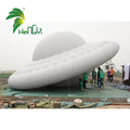 Silver Overlapped Seam PVC Air UFO Model / Helium Inflatable UFO Balloon for Outdoor Parade Events