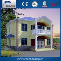 CE standard Light steel construction villa prefabricated houses