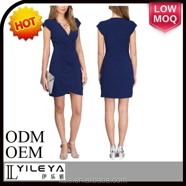 2015 high quality elegant blue first night dress for women