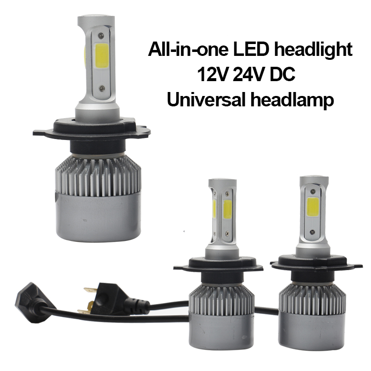 Super bright auto led headlight 80W 9000LM 3000K 6000K H1 H4 H7 H11 H13 9006 COB L4 car led headlight bulbs
