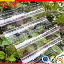 Lexan Coated Clear Plastic PC Sheet Polycarbonate Roofing Panel Corrugated Type for Greenhouse
