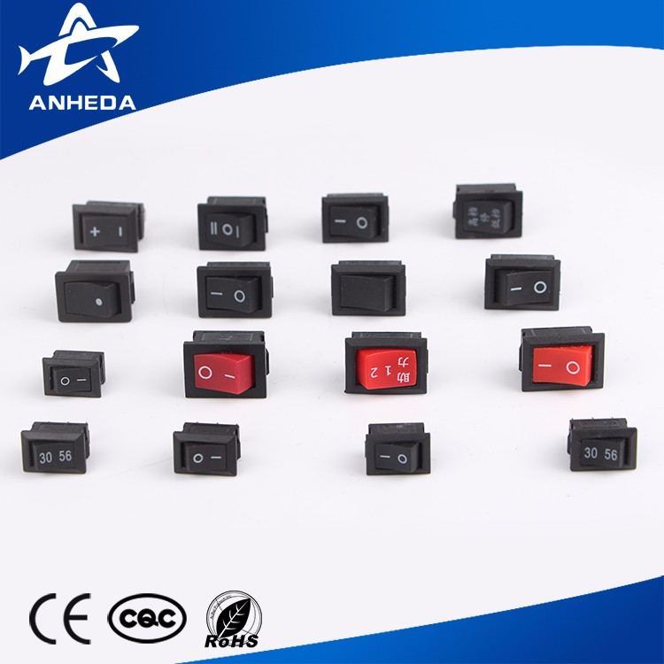 Factory price black cover rocker switch