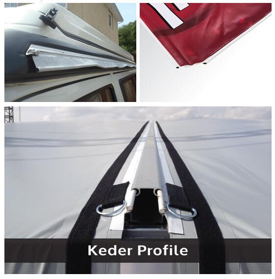 Awning 6mm 8mm 9mm 10mm 12mm PVC Tent Keder