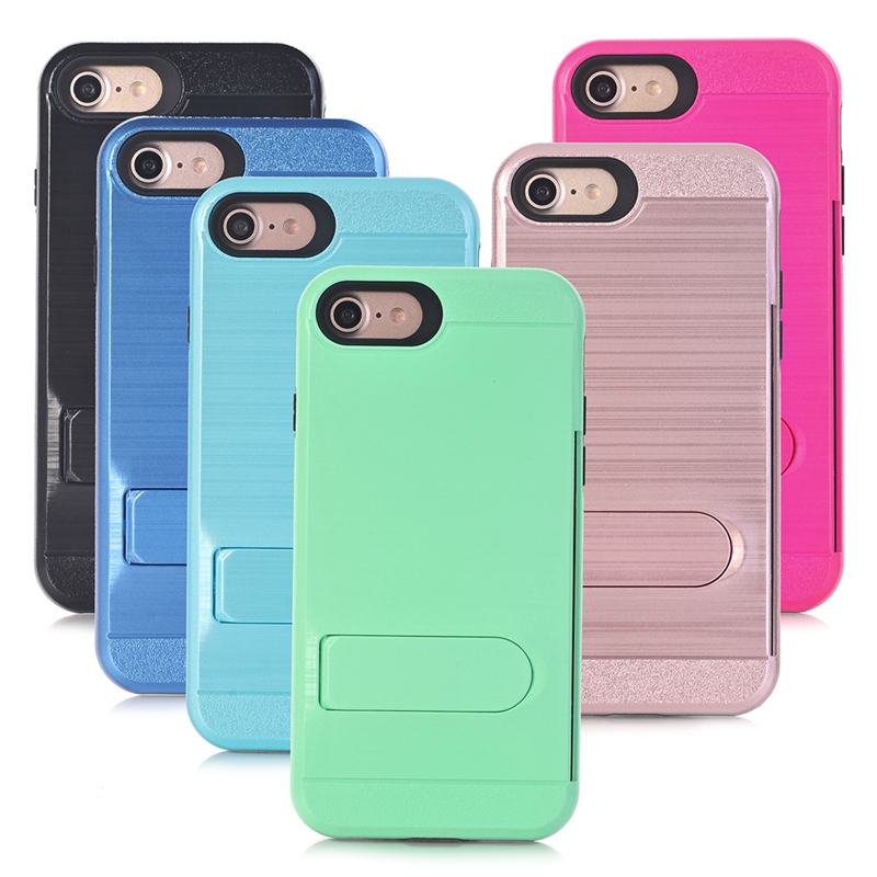 Dual Layer Hybrid Silicon PC Hard Shell Phone Case Cover for iphone 7 / 7 plus Mobile Phone Accessories Case