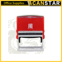 Square shiny inking plastic rubber stamp