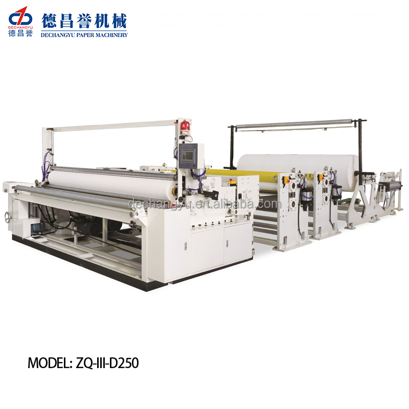 CE,ISO Certification Automatic Jumbo roll toilet roll paper slitting and rewinding machine