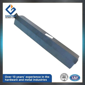 Steel sheet metal part for warm air blower accessories