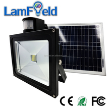 Long Working Life PIR Motion Sensor 10W Solar LED Flood Light For Garden Lighting