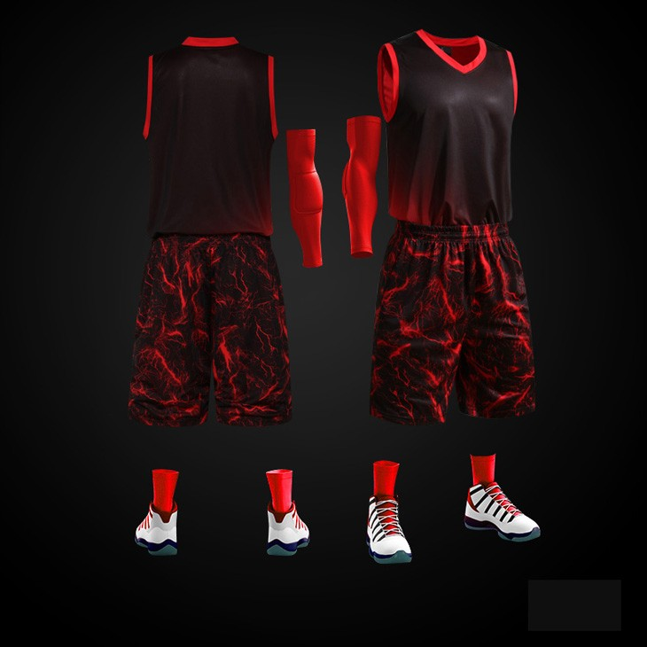 2016 Latest design men sublimation basketball jersey sets 100% polyester