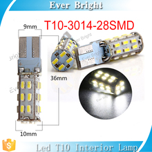 2017 hot new products for auto led car reading light led T10 bulbs 280LM bright led lighting 28SMD 3014 led bulb pcb