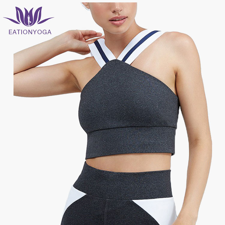 womens blank gym apparel workout crop top