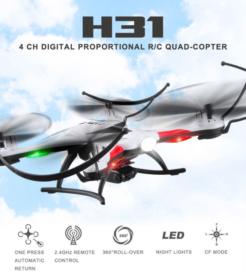 New Design JJRC H8 Mini Drone 2.4G 4CH 6 Axis RTF RC Quadcopter 360 Degree Roll CF mode One Press Return professional drone