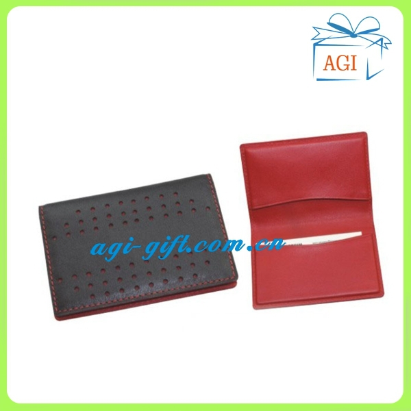 soft leather name card business card case