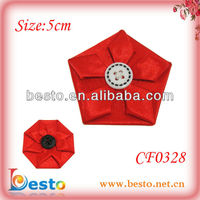 CF0328 Wholesale handmade red fabric cutting flower