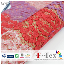 Top sale super popular three color cord lace fabric Nylon cotton polyester french african lace for lady apparel