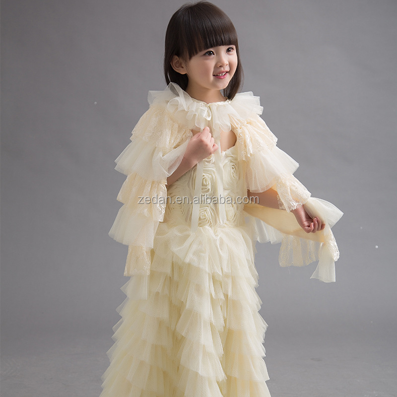 Elegant Baby Girls Ruffle Dress Flower Girls Dress Baby
