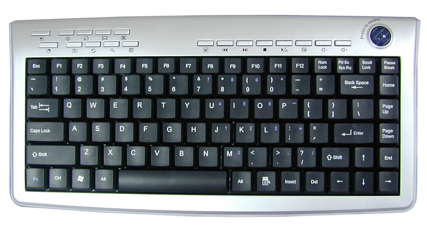 2. 4ghz Rf Wireless Slim Keyboard With Optical Trackball