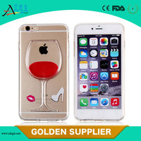 Wholesale Liquid beer bottle plastic smart phone case for iPhone 6