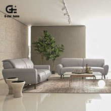 Contemporary Leather Sofa &amp; Loveseat Set Design Couch Living Room <strong>Furniture</strong> Purple and White Sofa