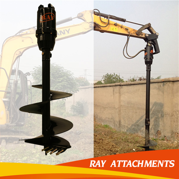 crawler excavator auger drilling rig for road construction
