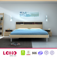 light oak wholesale high back designer bed