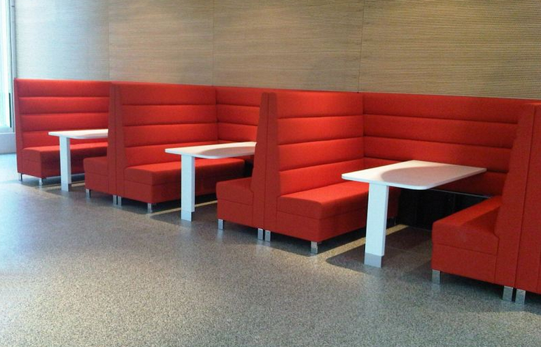 Restaurant sofas alime leather american fast food booth for Affordable modern furniture new york city