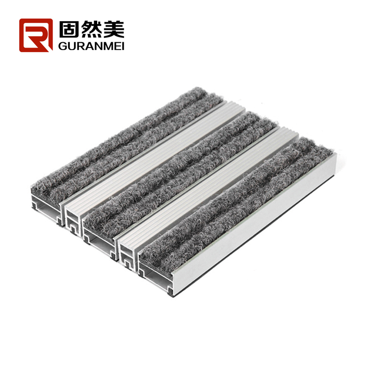 Fire resistance aluminum outdoor matting for tactile guidance matting system
