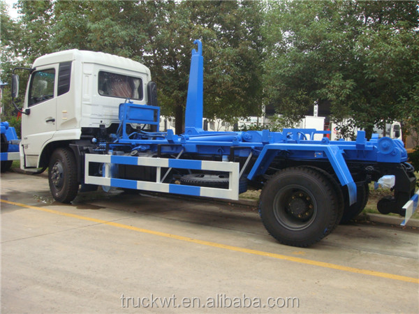 Factory 10m3 dongfeng 6 wheel hook lift containers for sale