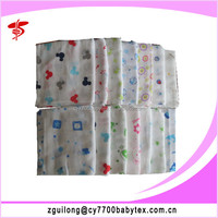 2015 100% Cotton Happy Flute Baby Muslin Cloth Diaper