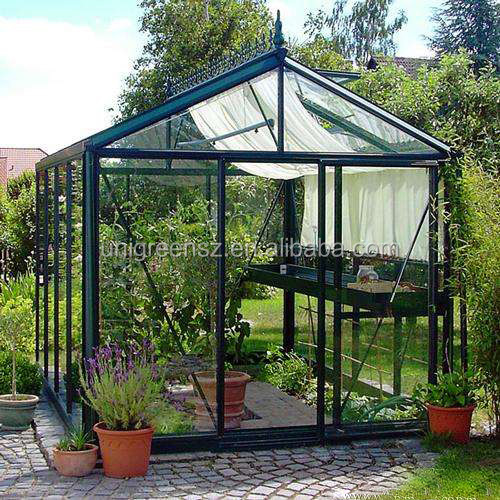 One stop gardens greenhouse parts, mini aluminium frame garden greenhouse,