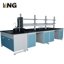 LB001 steel chemical dental metal lab furniture island work bench price for sale