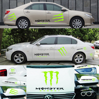 45*45cm For custom pvc windshield side decor design window decal ghost paw vinyl paper car Engine Hood modification wrap