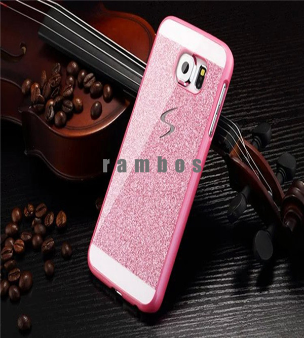 New Products Glitter Hard Plastic Back Case Cover Mobile Phone Bag for Samsung Galaxy A3 A5 A7 Note 3 Note 4