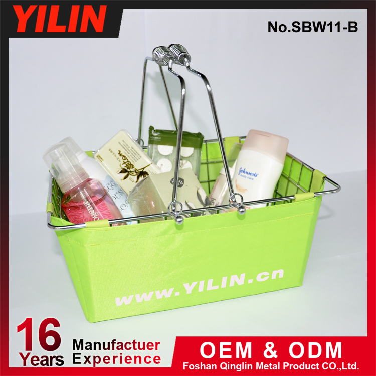 cosmetic basket small shopping basket with fabric