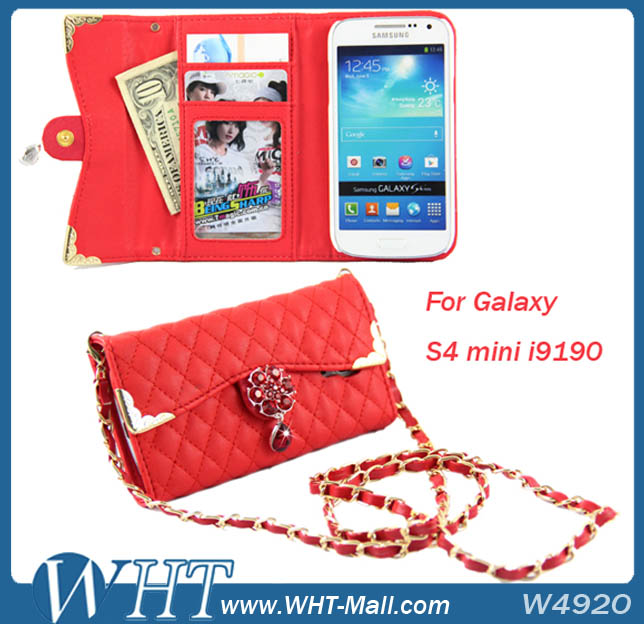 Diamond Bling Bling Case For Samsung Galaxy S4 mini i9190,Cell Phone Case For Galaxy S4 mini
