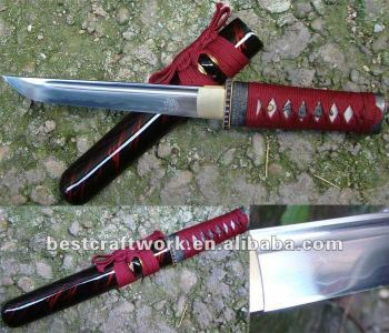 The 1095 Steel Samurai Tanto With Red Color Drop Shpping
